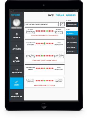 eGym Trainer App Maximalkrafttest