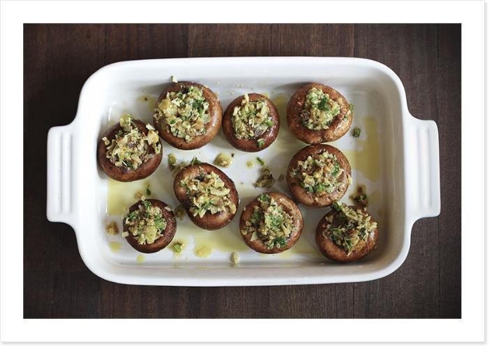 Rezept für gefüllte Ofenpilze