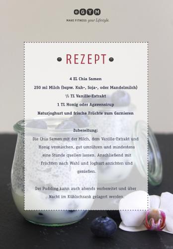 Rezept für Vanilla Chia Seed Pudding