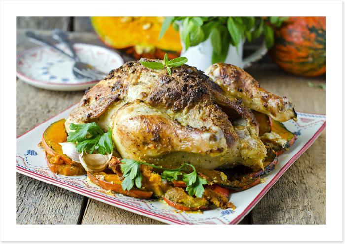 Paleo Rezept für Hühnchen mit Kürbis